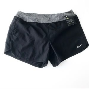 NIKE New Black Brief Lined Running Shorts D8